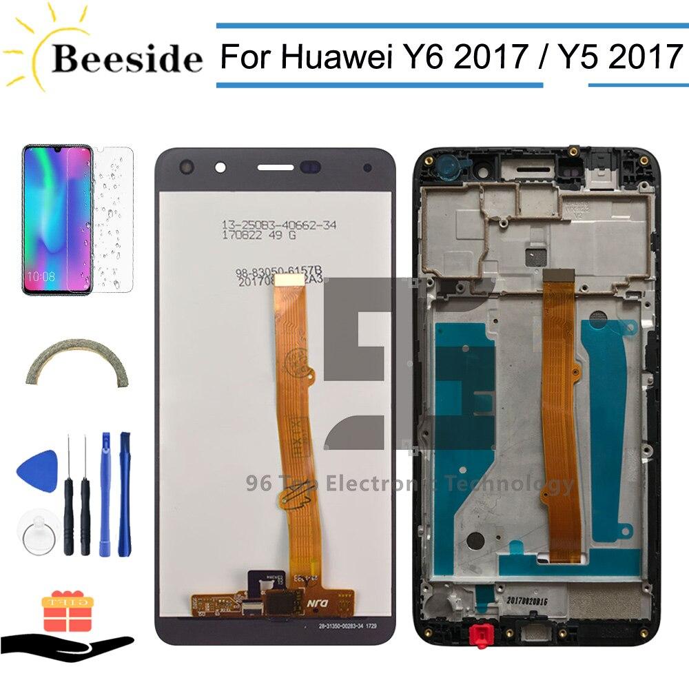 LCD + Quadro Para Huawei Nova Jovem 4G LTE/Y6 2017 MYA-L11 L41 L01 Screen Display LCD de Toque assembléia digitador Para Y5 2017 MYA-L22
