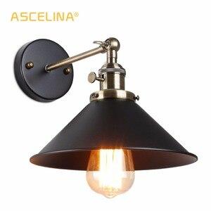 Винтажный настенный светильник, ручка переключателя, лофт, зеленый, бронзовый, E27, алюминиевый держатель для лампы, железная, Арт, ретро, ресторан, Домашний Светильник, лампа для учебы WL156