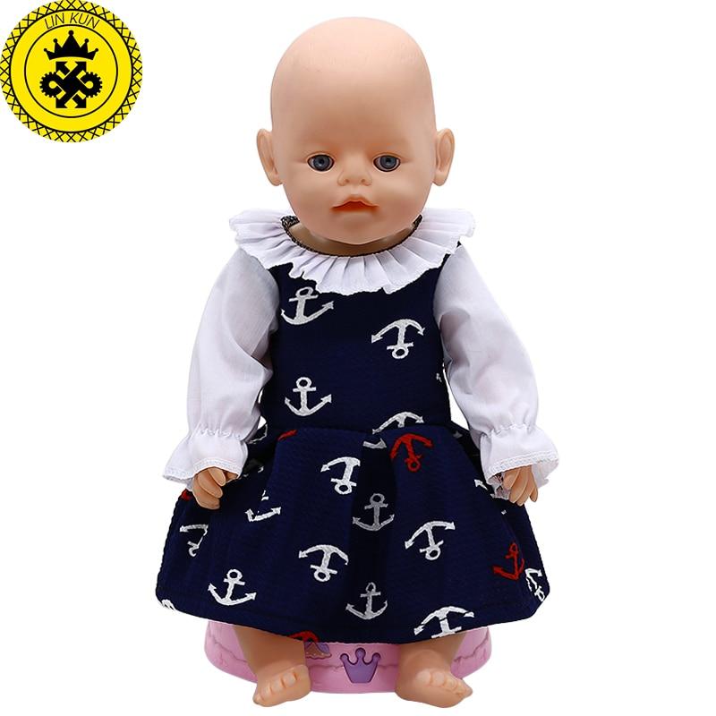 Кукла Одежда якорь платье принцессы 43 см аксессуары для детской куклы Прямая поставка 594