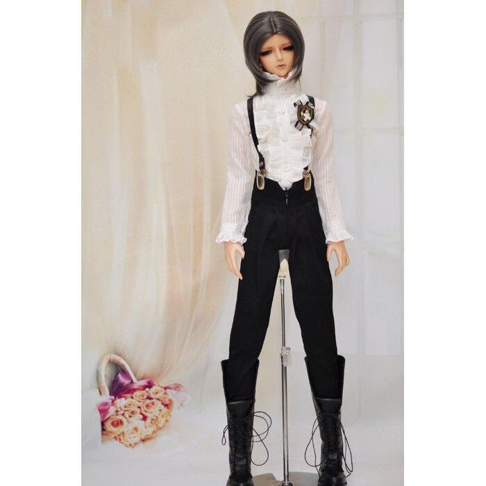 "BJD Black Harem Retro Pants Trousers Outfits Clothing For Male 1/3 SD17 70cm24"" Tall BJD doll SD DK DZ AOD DD Doll Wear"