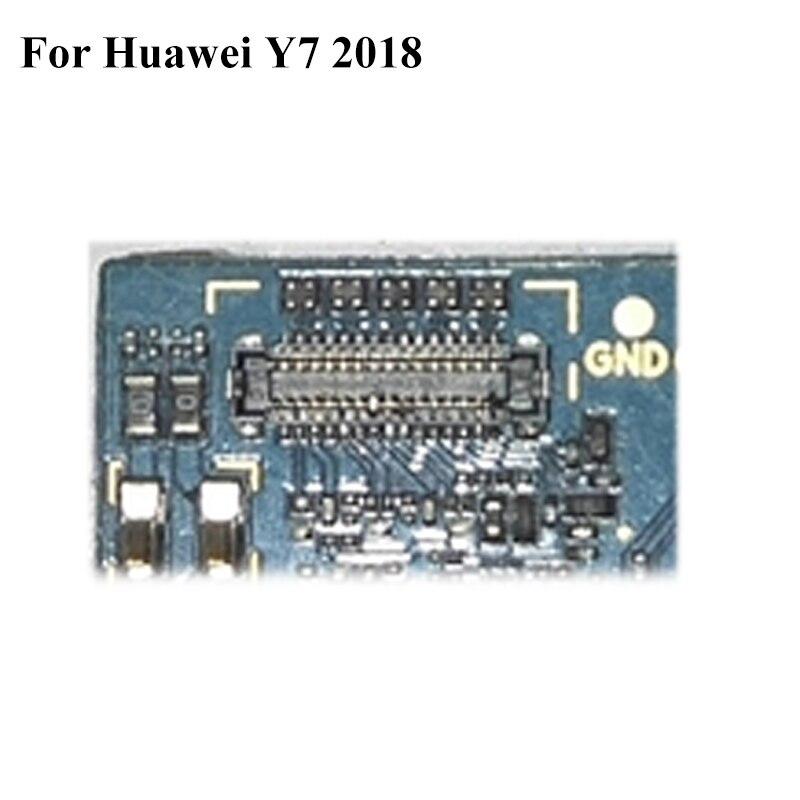 Conector FPC de 5 piezas para Huawei Y7 2018 Y 7 2018 pantalla LCD en el cable flexible de la placa base para HuaweiY7 2018