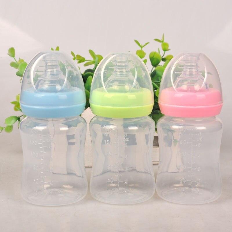 180ml recién nacido bebé lactante jugo de fruta y leche alimentación de agua boca estándar botella de bebida de tetina chupete de silicona