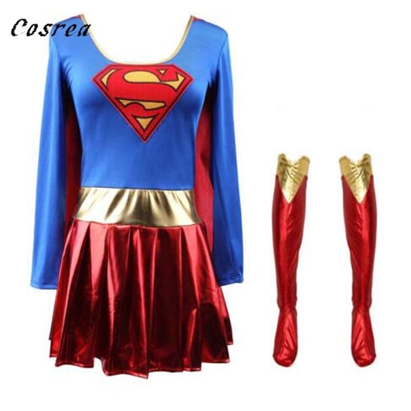 Superwoman Dress Superman Cosplay Costumes Bodysuit For Adult Halloween Super Girls Superhero Suit Wonder Woman SuperHero Zentai