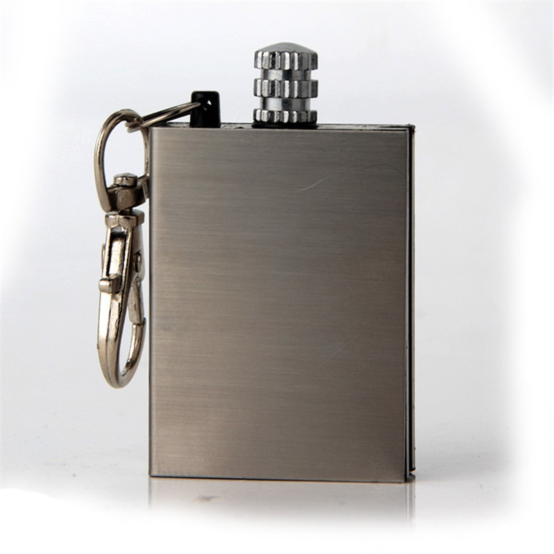 3 шт., креативные зажигалки из нержавеющей стали, керосиновая маслопламенная зажигалка, миллион спичек, кремневый пожарный стартер