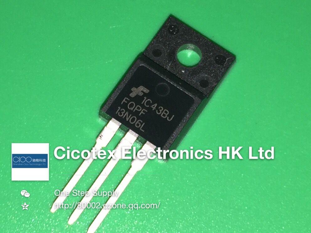 10 unids/lote FQPF13N06L TO-220F MOSFET N-CH 60V 10A TO220F 13N06L