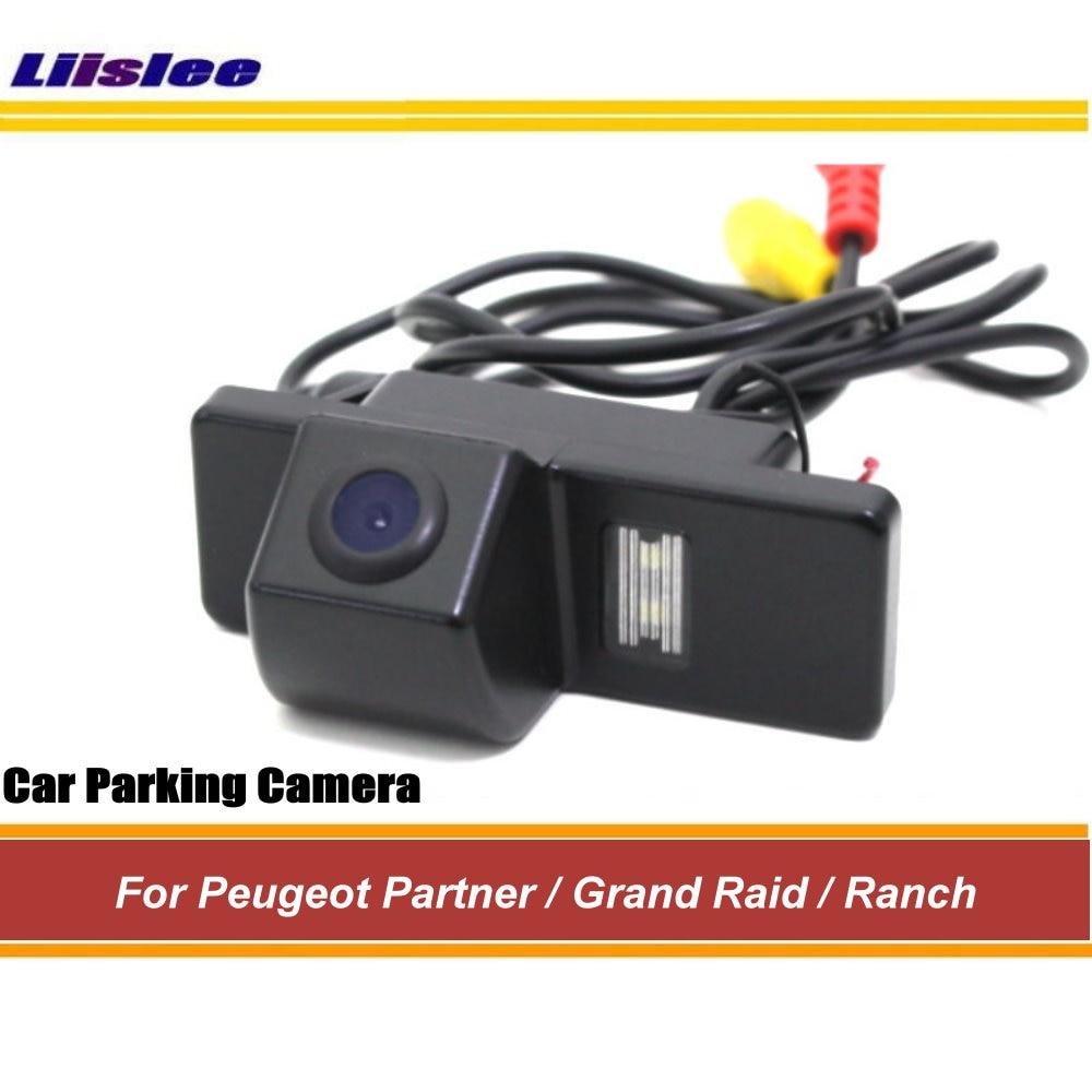 Cámara de visión trasera Liislee para Peugeot Partner/Grand Raid/Ranch backup Parking cámara/cámara integrada/CCD visión nocturna