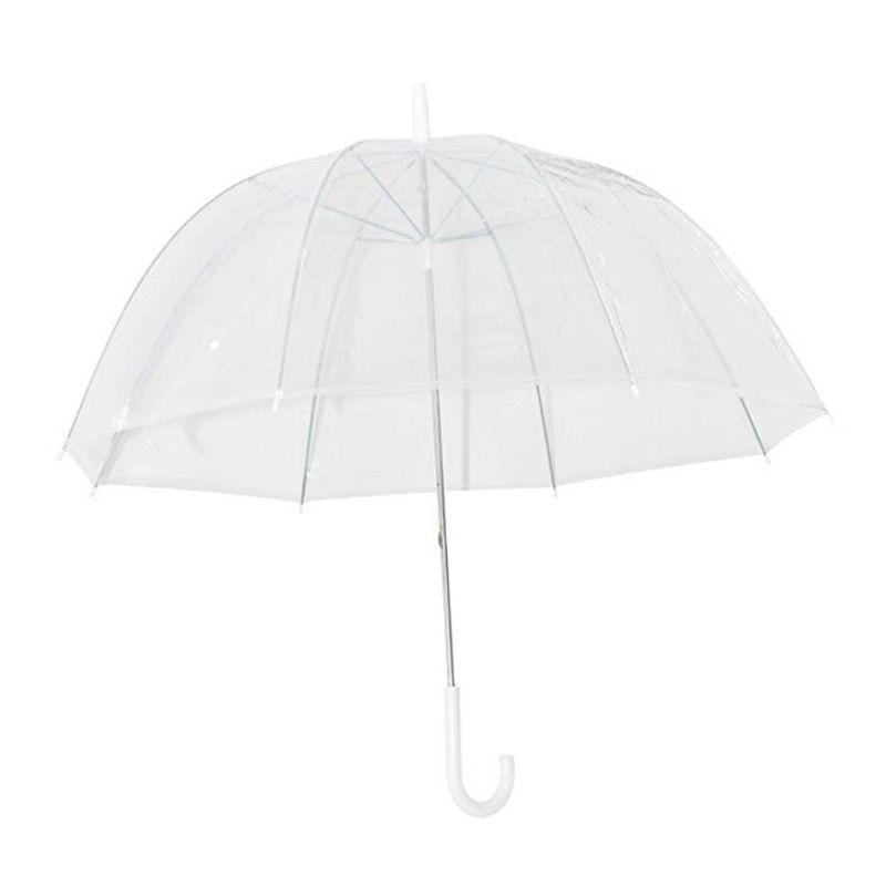 Fashion Transparent Clear Bubble Dome Shape Umbrella Outdoor Windproof Umbrellas Princess Weeding Decoration