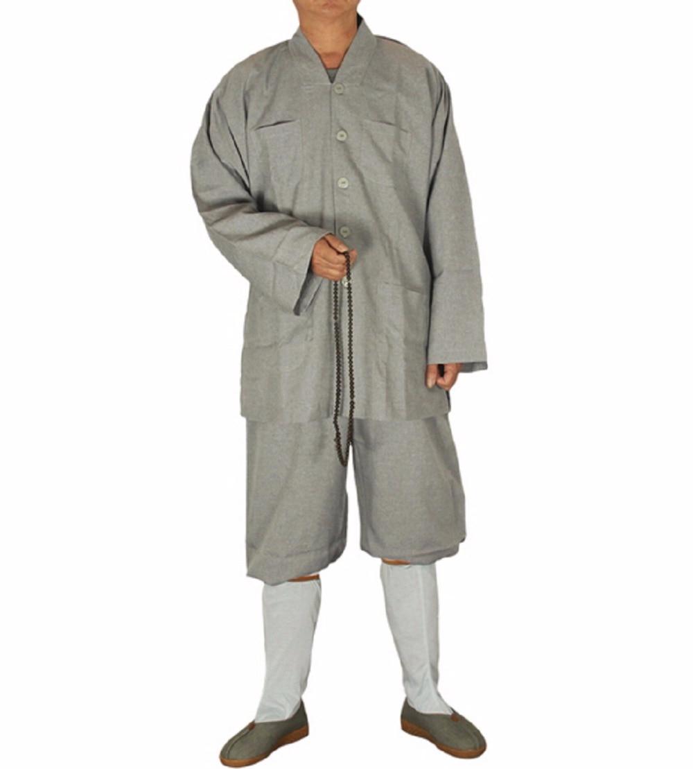 Vestidos cortos chinos Shanghai Story para hombre, conjunto de camisa + pantalón Shaolin Temple Zen, traje de Bata tipo monje budista, uniforme de kungfú