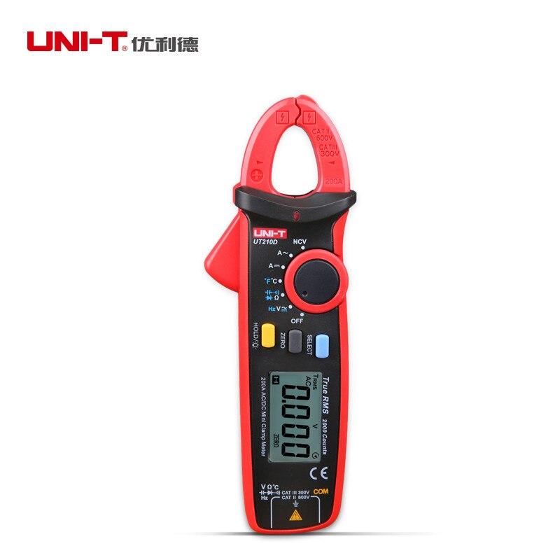 UNI-T ut210d digital braçadeira multímetro ac dc 200a 600 v amperímetro voltímetro função completa multi testador