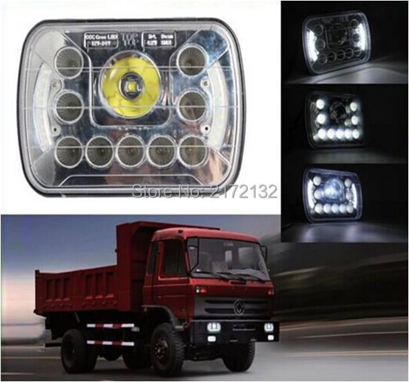 7 inch Chrome Truck light 45W 7x6 sealed beam new design led headlamp 5x7  rectangle H/L beam headlight for Jeep