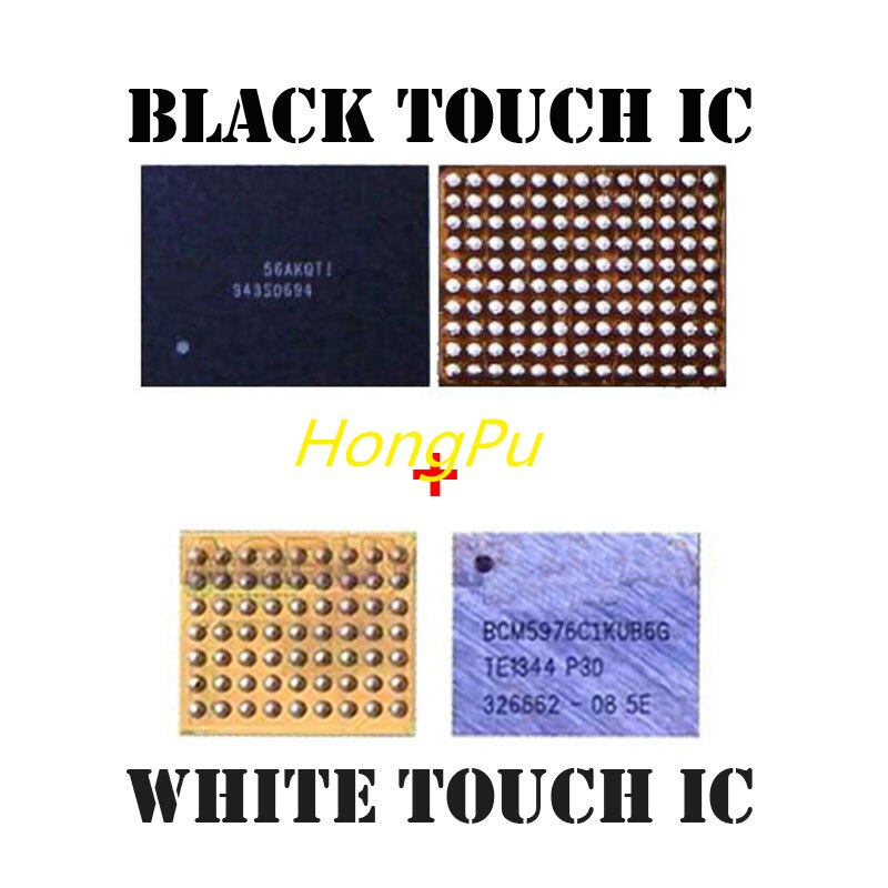 2 par/lote blanco BCM5976 U2401 + negro 343S0694 U2402 touch digitalizador pantalla ic chip para IPHONE 6/6 +/6 plus