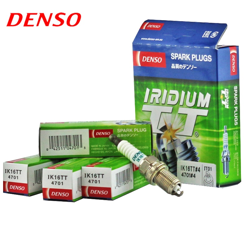 DENSO Car Spark Plug For RENAULT Kangoo 1.6L K4AM double iridium IK16TT