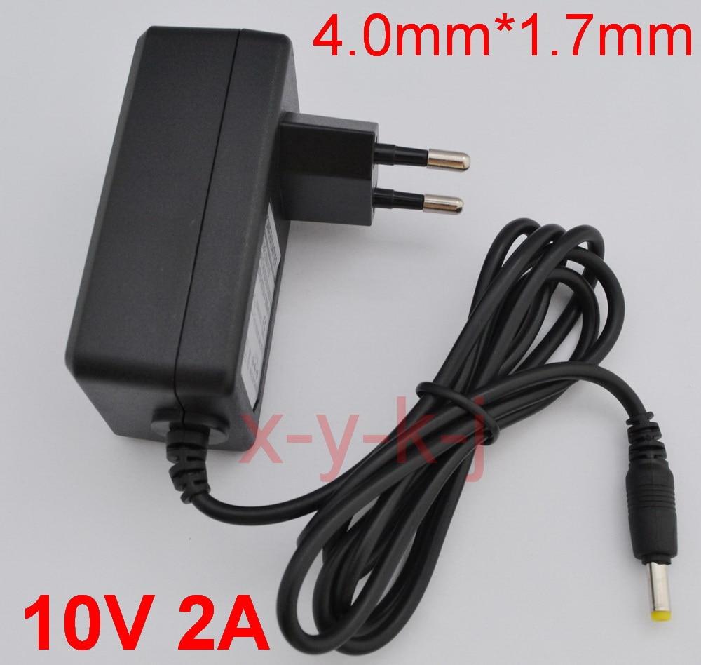 1 PCS 10 V 2A Alta qualidade soluções IC AC 100 V-240 V Conversor Adaptador DC 10 V 2A 2000mA Power Plug Abastecimento UE 4.0mm x 1.7mm