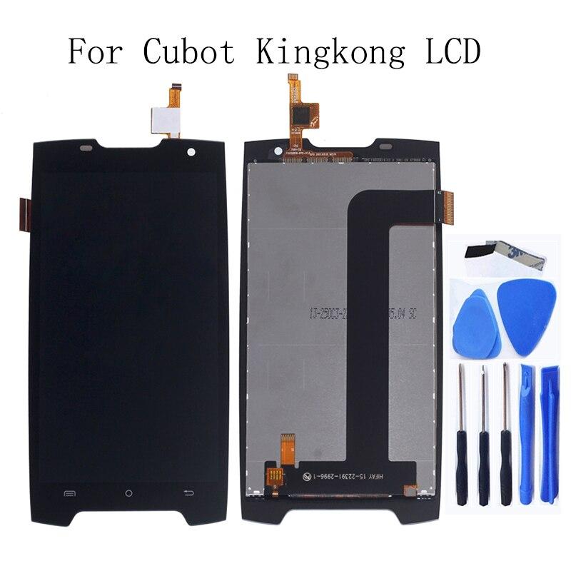 "5.0 ""Para Cubot King Kong Display LCD + touch screen substituição digitador Para display lcd de Tela Cubot King kong kit de reparo + Ferramentas"