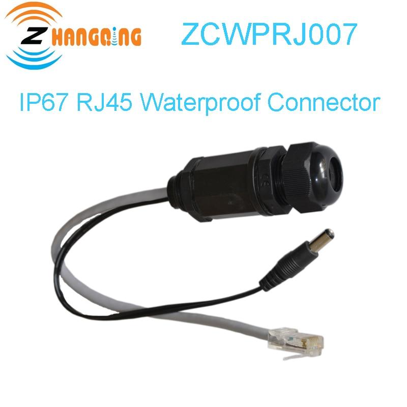 IP67 M20 Ethernet LAN RJ45 водонепроницаемый разъем витая пара кабеля 2 1*5 5 мм DC