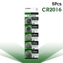 YCDC 5 adet/kart 3V Volt yeni CR2016 lityum pil madeni para hücre düğme pil BR2016 DL2016 LM2016 KCR2016 ECR2016 izle Bateria