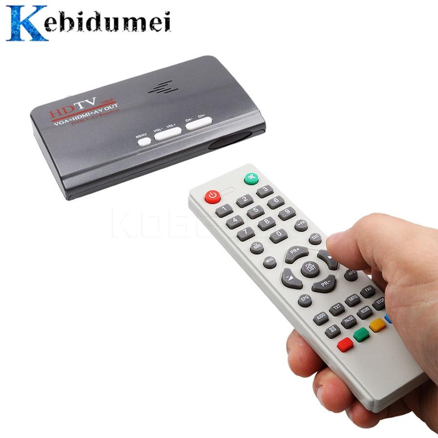 ТВ-тюнер Kebidumei DVB-T DVB-T2 T/T2 TV Box VGA AV CVBS 1080P HDMI Цифровой HD спутниковый ресивер для ЖК-мониторов/CRT