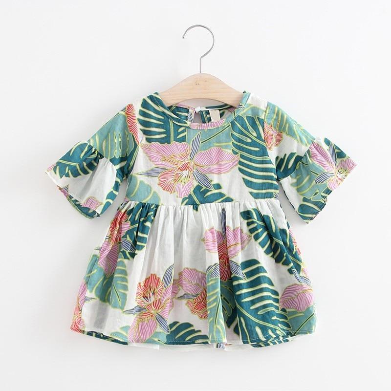2018 платье для маленьких девочек; Детские платья для девочек; Платья принцессы для новорожденных; Платье-пачка для малышей; Мини-платье; Рубашка; Новинка лета 2018
