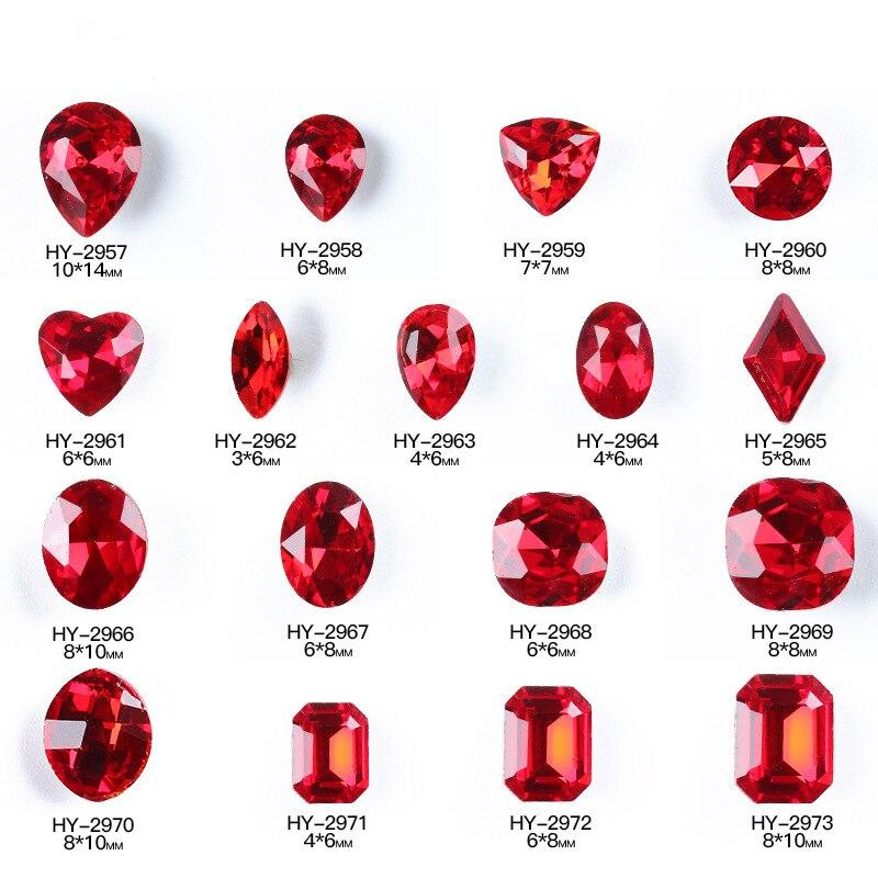 10 pçs/lote, Da Arte Do Prego 3d Diamantes Vermelhos Cores Do Arco Íris Iridescente Strass Nas Unhas Salão de Beleza Suprimentos
