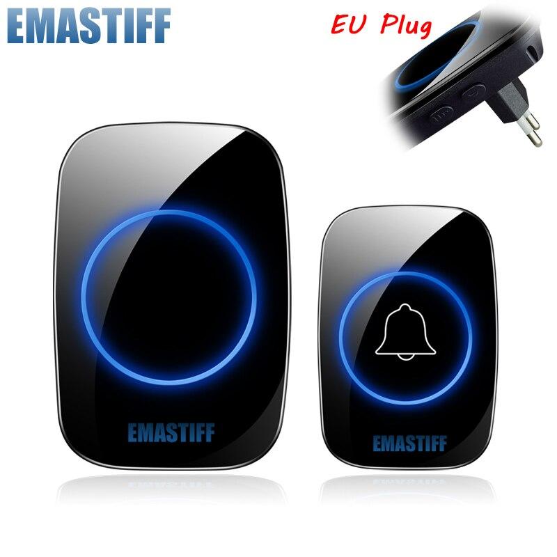 Nuevo timbre de bienvenida para el hogar timbre inalámbrico inteligente a prueba de agua 300M remoto EU AU UK US Plug timbre de puerta inteligente