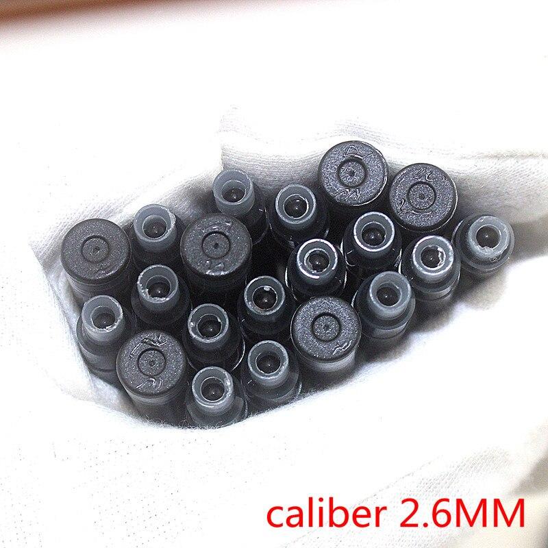Оптовая продажа 30 шт одноразовая синяя и черная авторучка чернильный картридж заправка длина авторучка чернильный картридж заправки