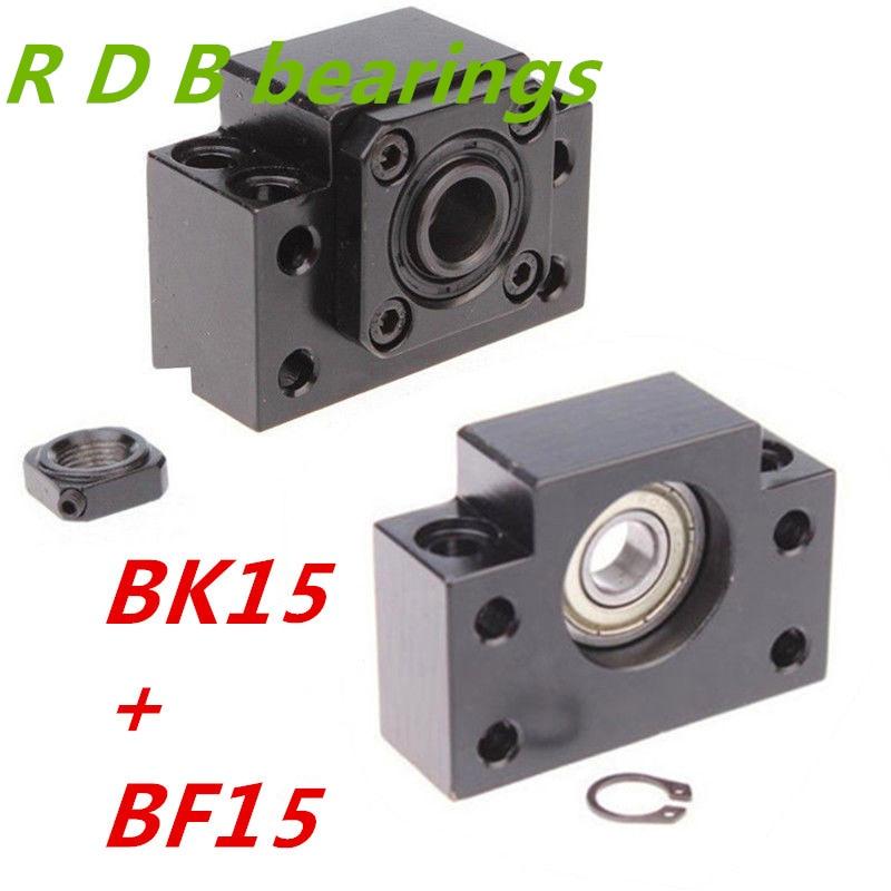 مجموعة BK15 BF15 ، قطعة واحدة من BK15 و BF15 ، طرف لولبي كروي لـ SFU2005 SFU2010 ، أجزاء CNC XYZ ، شحن مجاني