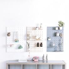 Plastic Hole Board Shelf Hole Board Wall Shelf Supermarket Shop Shelf Fittings Display Rack Hardware For Hook JJJRY717