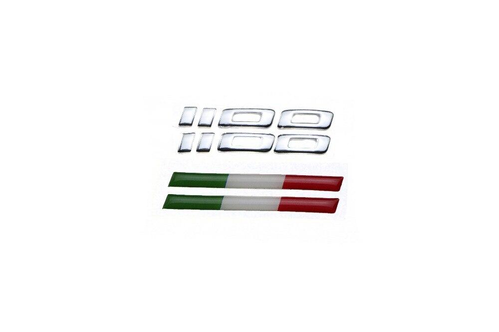 KODASKIN 3D Reflektierende Embleme Aufkleber Motorrad Tank Pad Aufkleber Logos Zubehör für Ducati Monster 1100