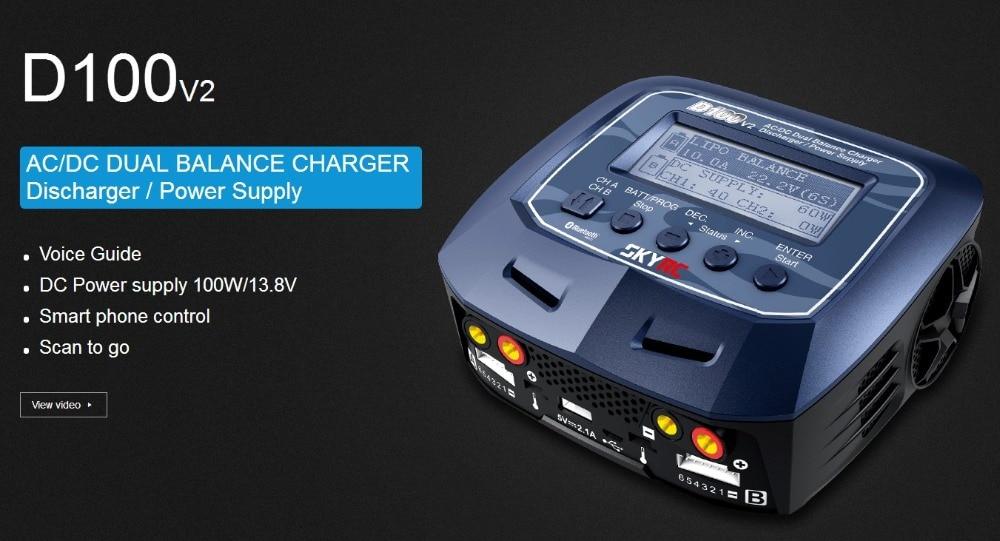 Original SKYRC D 100 V2C 2X 100 W Dual Balance LiPo Batterie Ladegerät Entlader SK-100 131 NiMH NiCd liPo Leben Lilon LiHV Pb