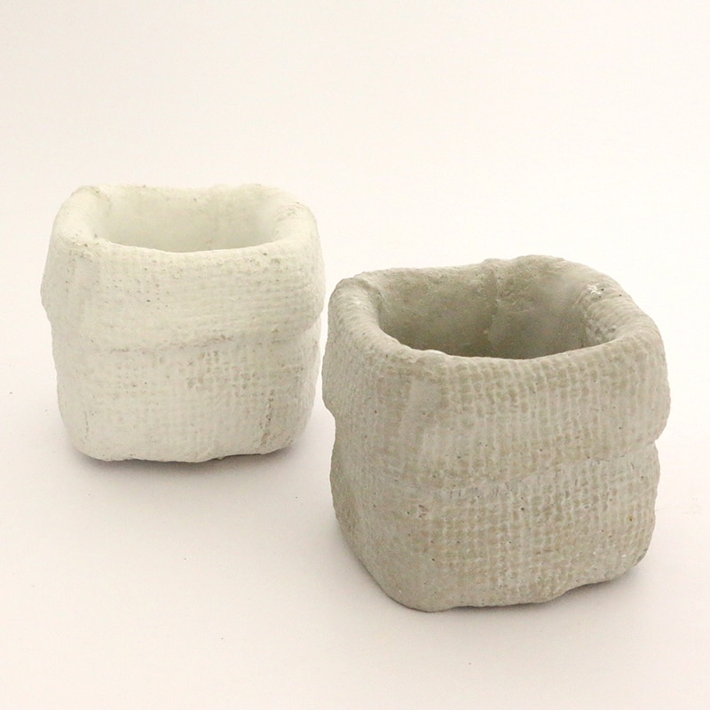 Bolsa de tela diseño concreto flowerpot silicona molde cemento suculenta plantación molde de tiesto jardín molde de tiesto
