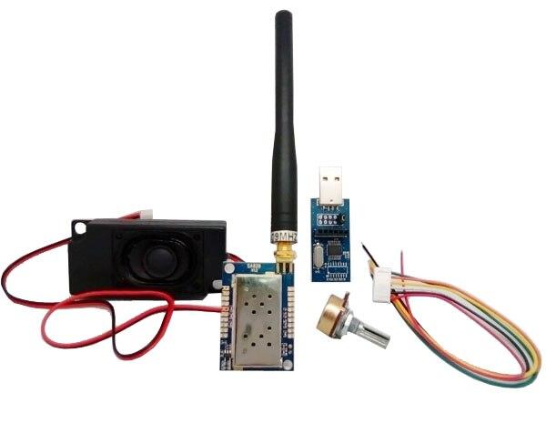 2 set/lote todo-en-uno vhf walkie talkie kit de módulo de SA828 transmisor vhf FM módulo
