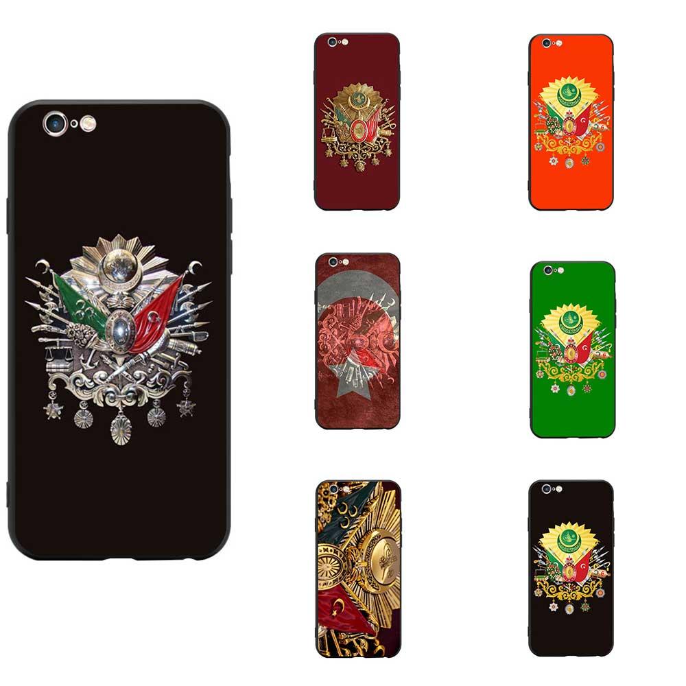 Türkei Türkische Osmanischen Reich Mantel Von Arme Thema TPU Telefon Fällen Abdeckung Personalisierte Für iPhone 6 7 8 S XR X Plus 11 Pro Max