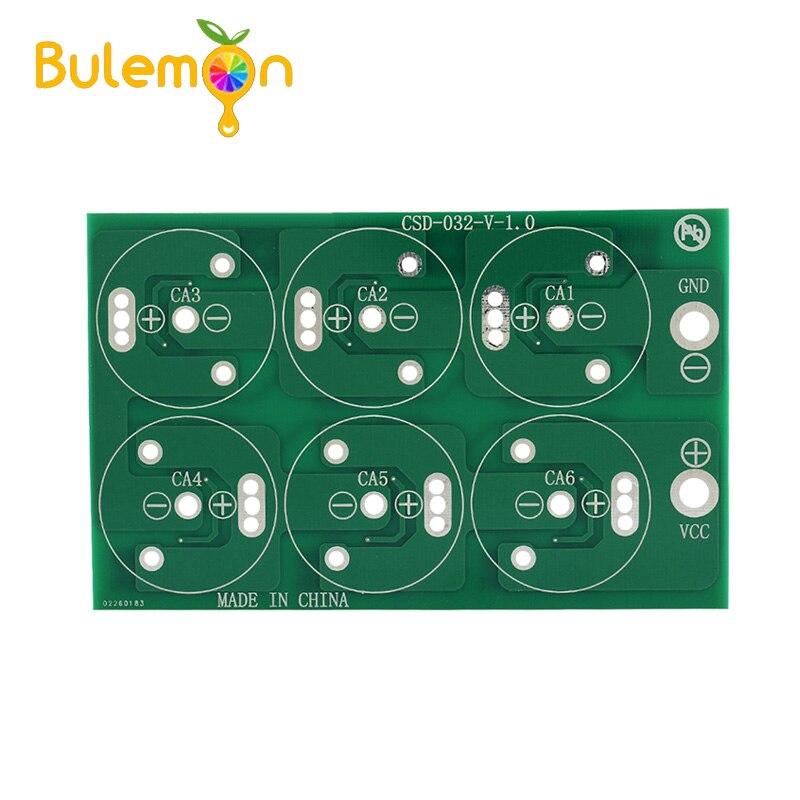 1PC Diy seis series de 310F 2,7 V 350F seis Series Super condensador todos PLACA DE PROTECCIÓN DE