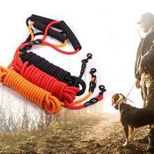 Pet köpek tasması küçük Büyük Yavru Köpek Tasma Hatırlama Eğitimi Izleme İtaat Uzun Çizgi Kurşun Dağ Tırmanışı Halat 2 m 3 m 5 m 10 m