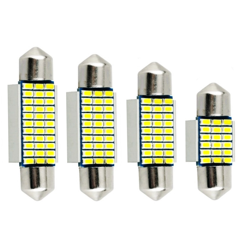 100 stücke Girlande 31mm 36mm 39mm 41mm Led-lampe C5W Super Helle 18 27 30 33 SMD 3014 LED Auto Innen Doom Lampe Auto Lesen Licht
