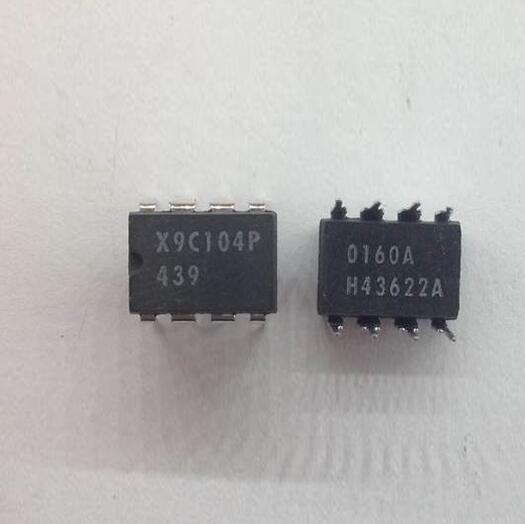 20 pçs/lote X9C104P X9C104 DIP-8 Frete Grátis