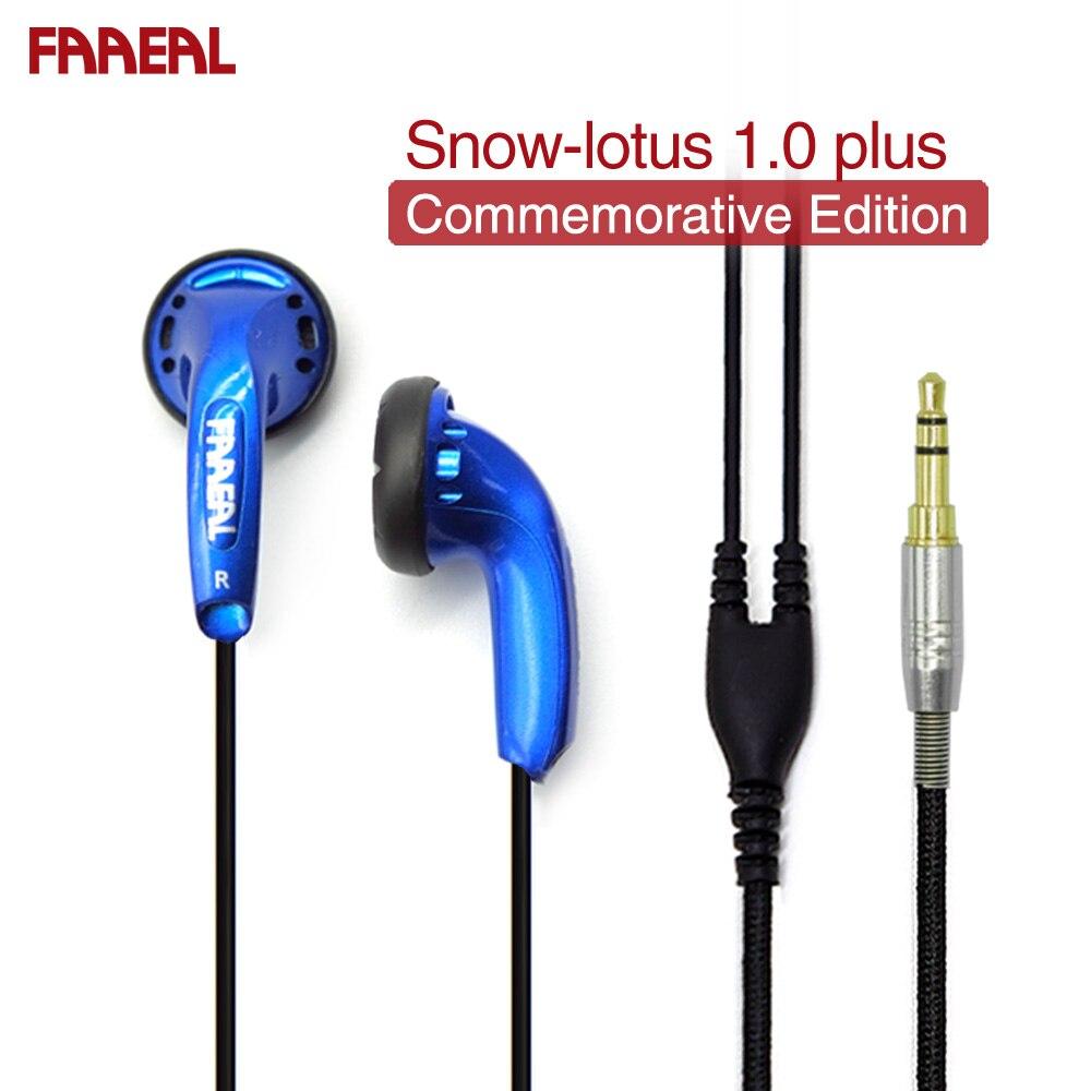 Auriculares FAAEAL Snow-lotus 1,0 +/1,0 Plus, auriculares Hifi azules de 64 Ohm, edición conmemorativa, venta limitada
