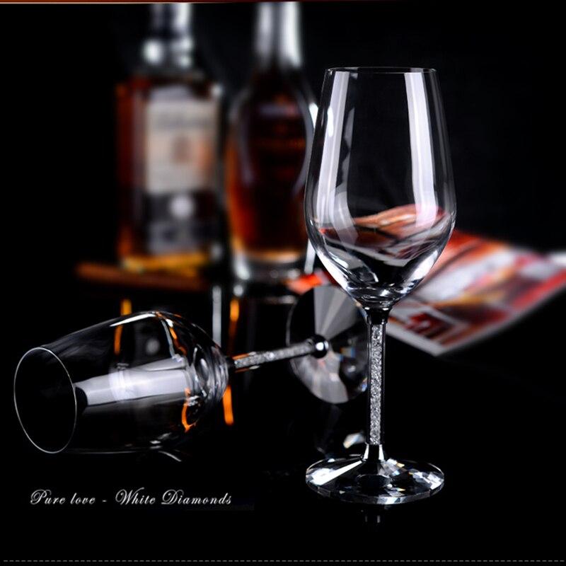 1 زوج الأحمر النبيذ الزجاج مثالية للهدايا الزفاف كريستال شرب نخب المزامير القدح مع الحفر الخالي من الرصاص النبيذ نظارات حزب بار أداة
