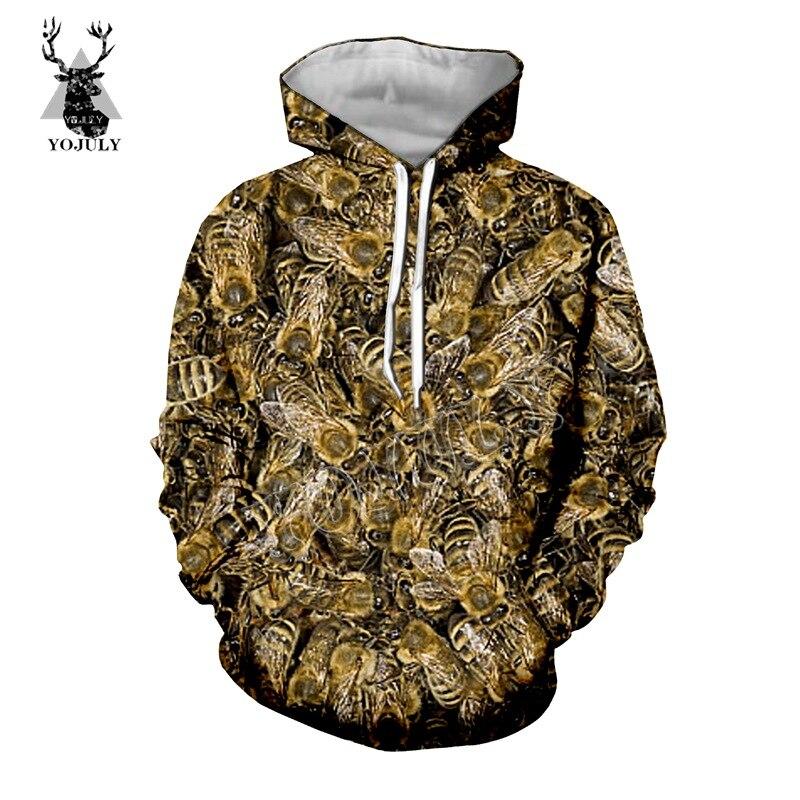 YOJULY 3D Bee Printed Unisex t shirt Fashion Casual T-shirt Men Women Vest T shirts Sweatshirt/Zip hoodies/Shorts/Long Pant K52