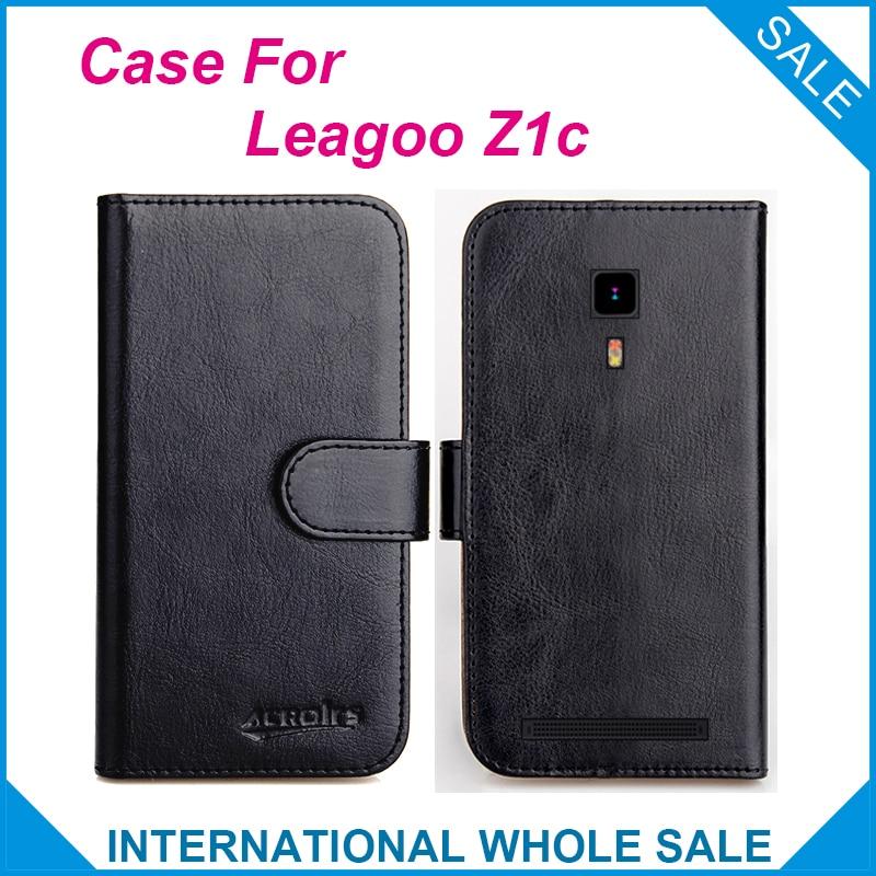 Hot! 2017 leagoo z1c case, 6 cores de alta qualidade exclusivo case para z1c leagoo telefone bag capa de couro original + rastreamento
