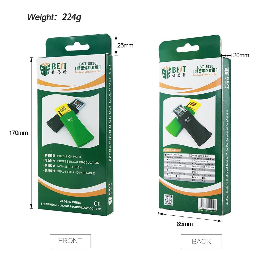 Купить с кэшбэком BEST 25 in 1 Screwdriver Set Precision Magnetic Screwdriver Bits for iPhone Samsung xiaomi Phone Tablet Watch Repair Tools Kit