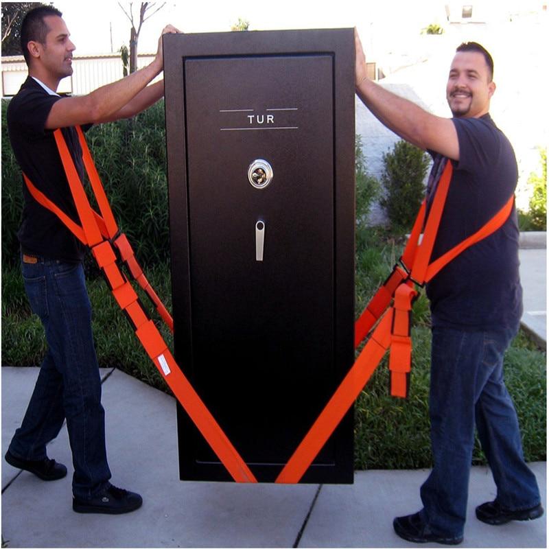 New Useful Lifting Moving Strap Furniture Transport Belt In Shoulder Straps Team Straps Mover Easier Conveying Storage Orange