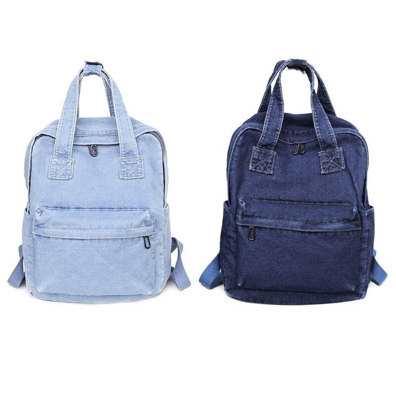 Bolsas nuevas 2018, mochila vaquera Vintage para mujer, mochila de hombro, mochila informal escolar para estudiante y adolescente