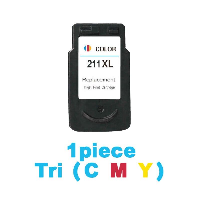 Cartucho de tinta para canon Pixma CL211 IP2702 MP240 MP250 MP270 MP480 MP490 MX320 MX340 de inyección de tinta impresora cartuchos de tinta de CL 211 CL-211