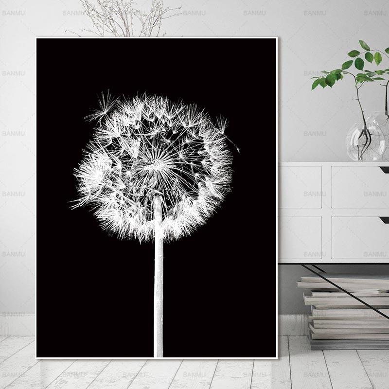 Cuadro de pintura de estilo nórdico, cuadro de lienzo, decoración del hogar, impresiones artísticas, flores naturales, cuadros de pared, arte de sala de estar, cuadro decorativo