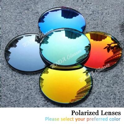 الأزياء الملونة معكوسة عاكسة النظارات الشمسية الاستقطاب العدسات وصفة طبية