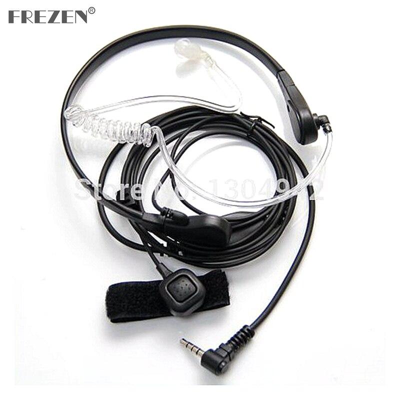 Micrófono de garganta Covert tubo acústico auricular para Yaesu Vertex VX-3R 5R 210 210A Radio bidireccional Walkie Talkie 1pin