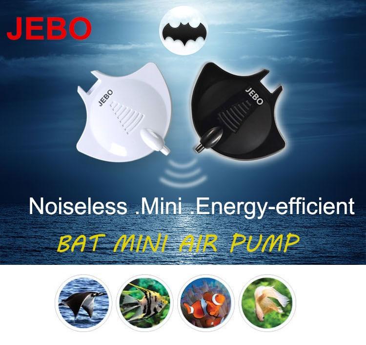 JEBO Bat Air Pump Nano Hang On Quiet Silent 220v~240v With Air Tube Air Stone Aquarium Fish Water Plant Tank Black/White Q2210