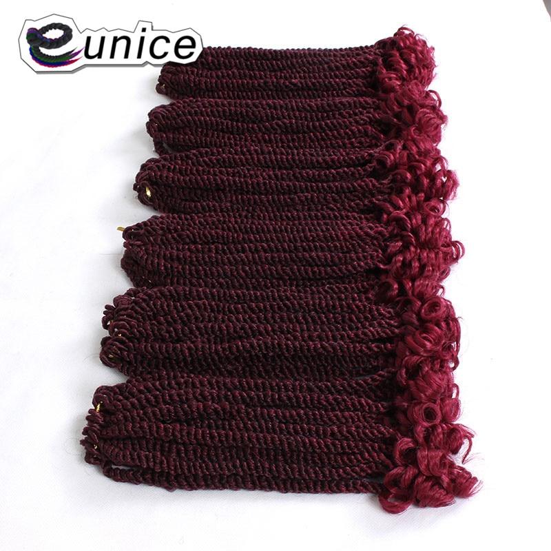 Pelo sintético pre-looped Eunice para trenzar pelo Afro Kinky Twist Crochet DIY trenzas estilo para probar en 2018 Ombre T1B/27/BUG