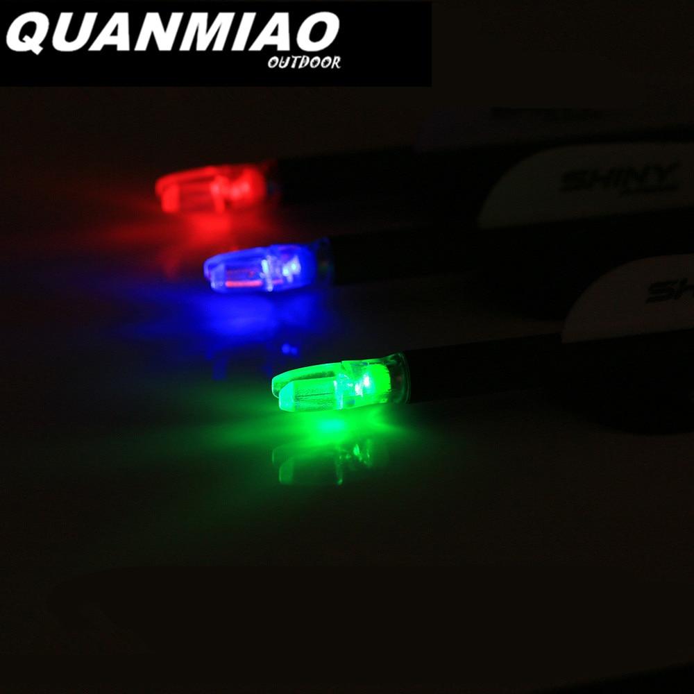 Arco compuesto de 9 Uds para ID 6,2mm flecha culatín iluminado arco activado 3 colores LED iluminado flechas de caza de tiro con arco